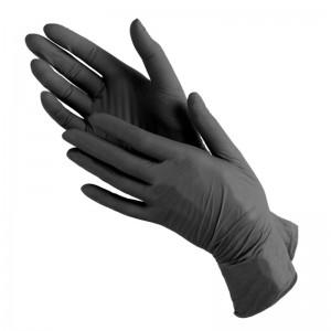 Перчатки Виниловые Черные «М»(100шт/уп)