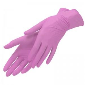 Перчатки Нитриловые Розовые «М» (100шт/уп)